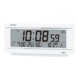 画像1: SEIKO[セイコー] セイコークロック GP501W 衛星電波置き時計 正規品