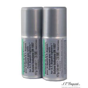 画像3: S.T.Dupont【デュポン】 ライター専用 純正ガスボンベ 緑色×2